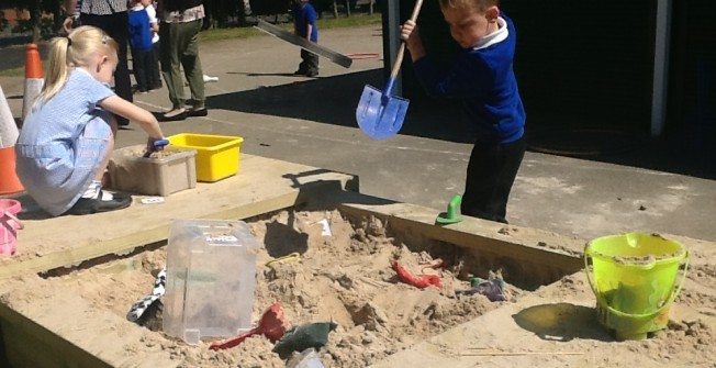 EYFS Sand Play Equipment in Highland